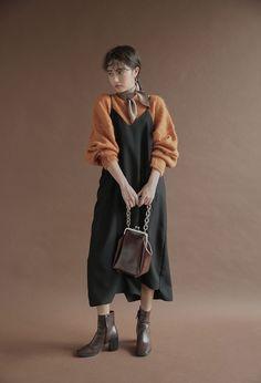 Single-Tone V-Neck Cami Dress | STYLENANDA