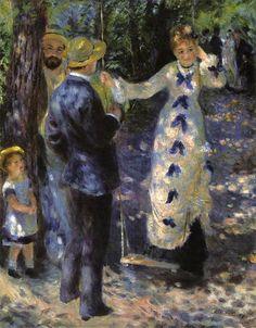 La balançoire(1876)  Pierre-Augustê Renoir