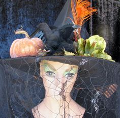 Witch Hat Halloween One of a Kind with Lights by willowpaige