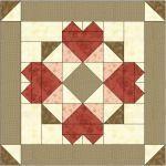Somewhere My Love Free Quilt Block Pattern