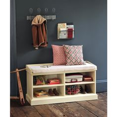 Gloucester Painted Shoe Storage Bench with Cushion including free delivery (921.535) | Pine Solutions