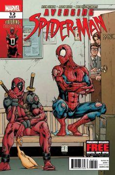 Avenging Spider-Man #12 (2012) cover by Matt Hollingsworth and Shane Davis