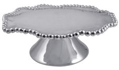 Pearled Wavy Cake Stand | Lucky Den Mariposa has a gift for tradition reimagined in the String of Pearls collection. Pearls follow the contours of our Pearled Wavy Cake Stand in this brilliant serving piec