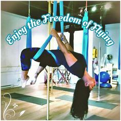 Enjoy the beauty and joy of the Aerial Arts! Sign up for an Aerial Yoga class and discover what it feels like to fly!