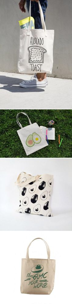 To ardent fans of #avocadotoast, may we suggest mixing it up with some avocado totes? #etsy