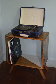Vinyl Record Storage Mid Century Modern Table Mid Century