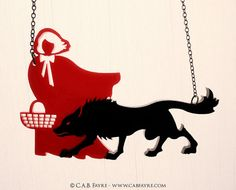 Little Red Riding Hood Necklace  Laser Cut Necklace by CABfayre, $25.00