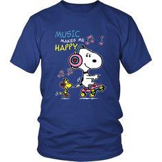 Music Make Me Happy Snoopy Shirts