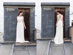 Robes de mariée de Marion Kenezi - Collection 2016 - Paris | Modèle: Aimée & Jeanne | Photographe: Gwel | Donne-moi ta main - Blog mariage