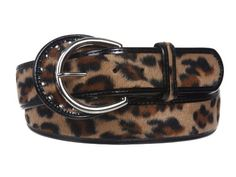 1 1/2'' Wide Ladies Patent Leather Leopard Print Animal Fur Fashion Belt Size: S/M - 32 Color: Beige Made by #beltiscool Color #Beige. Leopard print. Self-covered buckle