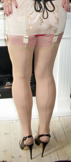 Stockings Heels, Stockings And Suspenders, Nylons, Suspender Bumps, Stocking Tights, Vintage Lingerie, Spanx, Legs, Girdles