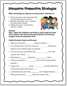 Discussion strategies for teaching kids how to connect their ideas during a group or class discussion Comprehension Strategies, Teaching Strategies, Teaching Tips, Reading Comprehension, Engage In Learning, Cooperative Learning, How To Teach Kids, Third Grade Reading, Authors Purpose