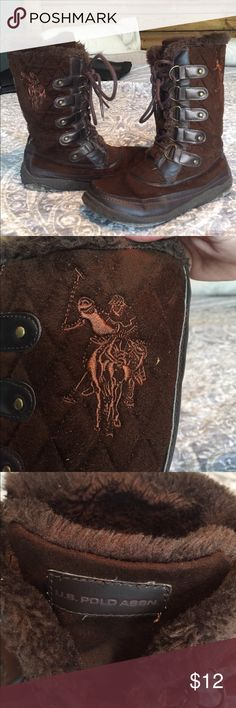 Stylish brown polo boots Brown winter Polo boots Shoes Winter & Rain Boots