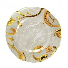 Ten Strawberry Street Giardano Clear and Gold Glass Charger Plate Cloth Table Covers, Gold Chargers, Charger Plates, Plate Chargers, Gold Glass, Clear Glass, Lace Patterns, Joss And Main, Gold Material