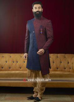 Mens Indian Wear, Mens Ethnic Wear, Indian Groom Wear, Indian Men Fashion, Mens Fashion Suits, Men's Fashion, Wedding Dresses Men Indian, Wedding Dress Men, Mens Sherwani
