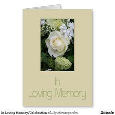 In Loving Memory/Celebration of Life Invitation Large Greeting Card