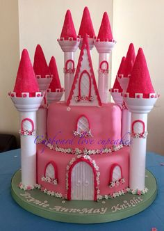 Disney Princess Castle Cake I used the Wilton castle kit I also
