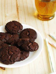 Cookies tout chocolat sans beurre mais à l'huile d'olive!! {Battle Food #18} | Trognon de pomme