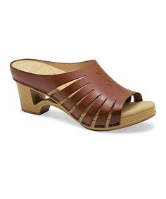 Look what I found on #zulily! Brown Leather Tilly Sandal - Women #zulilyfinds