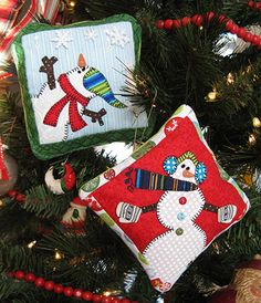 Gifty Galore - My Snowmen Ornaments » Notions - The Connecting Threads Quilt Blog