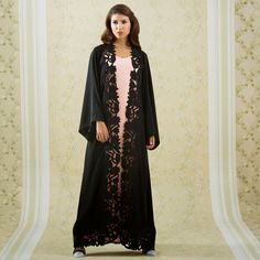 Bedazzled Boutique's Eid collection would go perfectly with the accessories from the Chanel Paris-Dallas Metiers d'Art Ready to Wear Coll. Abaya Fashion, Muslim Fashion, Blue Abaya, Modern Abaya, Beach Kaftan, Abaya Designs, Beautiful Hijab, Abayas, Kaftans