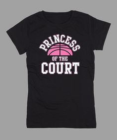 Black 'Princess of the Court' Fitted Tee