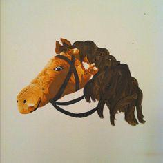 Child's footprint horse