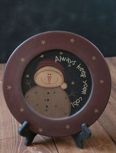 Keep Your Cool Snowman Plate, by The Hearthside Collection. - The Weed Patch. www.theweedpatchstore.com #christmas