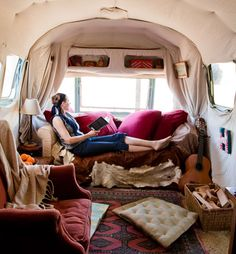 Airstream trailer - this would be a great writing studio!