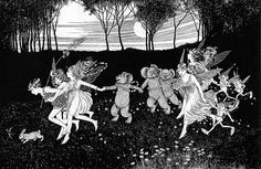 Ida Rentoul Outhwaite ~ On the Way to the Fairy Party ~ The Enchanted Forest ~ 1921
