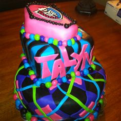 Monster High Birthday Cake! Made this for my daughter's 8th birthday. Loved the bright colors!