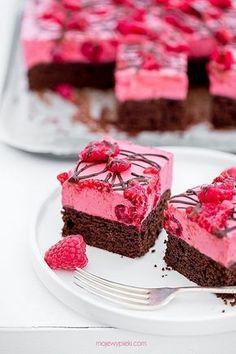 Kostka malinowo-czekoladowa