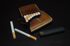 Handmade Leather cigarette case Christmas gift Gifts for