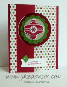 Christmas Collectibles Flip Flop Card with Stampin' Up! Thinlits
