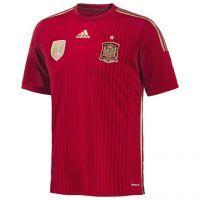 Camiseta Oficial de la Selección Española para el mundial 2014. Primera equipación.  http://www.deportesmena.com/131-articulos-seleccion-espanola#.Ut6uCxC0rIU