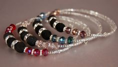 Glass Bead & Silver Memory Wire Bracelet by SilverChaseDesigns, $20.00
