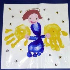 angel handprint for great grandmas gift