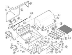 installation specification showing all dcs 27 bbq grill parts
