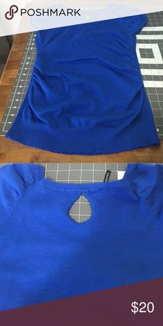 Maurice's royal blue top Maurice's short sleeve top, size XL with keyhole back. Only wore twice Tops Tees - Short Sleeve