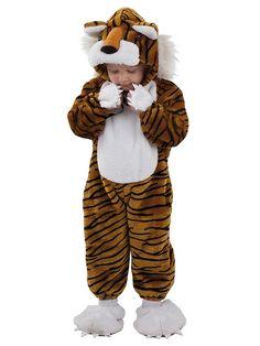El disfraz de tigre feroz bebe, incluye Cabeza, mono y pies en DisfracesMimo.com