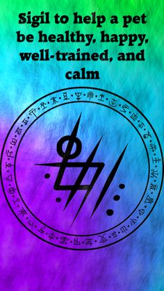 Sigil to help a pet be healthy, happy, well-trained, and calm Wiccan Spell Book, Witch Spell, Wiccan Spells, Magic Spells, Witchcraft, Wiccan Symbols, Magic Symbols, Spiritual Symbols, Lucky Symbols