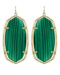 Kendra Scott malachite earrings...yes please!