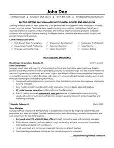 Auto sales resume sample