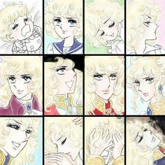 Oscar through the years. - Oscar through the years. Anime Kiss, Japanese Art, Japanese Culture, Illustration, Art, Japanese Anime, Anime, Manga, Vintage Illustration