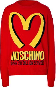 Moschino Wool-Cashmere Fast Food Pullover, $851, Shopstyle.com