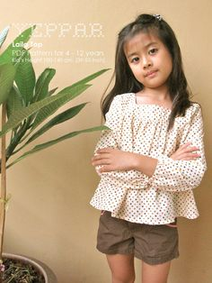 PDF Pattern - Laila for 4 - 10 years old and tutorial.. $5.95, via Etsy.