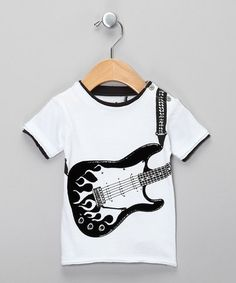Take a look at this White Electric Flame Guitar Snap Tee - Infant by Mini Shatsu on #zulily today!