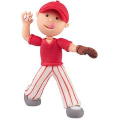 Get ready to hit a home run with your favorite sports fan by modeling our baseball topper! It's easy when you use The Wilton Method of 3-D Character Modeling online instructions.