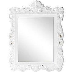 Dunelm White Ormolu Highlife Mirror White Vintage Bathroom Cabinet, Mirror Wall Collage, Downstairs Toilet, White Mirror, Rococo, Bathroom Ideas, Google Search, Home Decor, Decoration Home