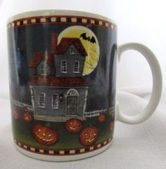 Mug-Halloween-Pumpkin-Hollow-Haunted-House-David-Carter-Brown-Collection-2002